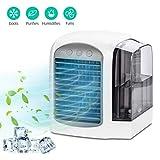 Air Cooler, Omasi mini Luftkühler Luftreiniger Luftbefeuchter, 3 in 1 mobile Klimaanlage, für Zuhause, Büro, Hotel