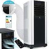 KESSER - Klimaanlage Mobiles Klimagerät 4in1 kühlen, Luftentfeuchter, lüften, Ventilator - 9000 BTU/h (2.600 Watt) 2,6KW - Klima mit Montagematerial, Fernbedienung und Timer, Nachtmodus (EEK: A)