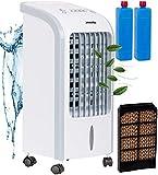 3in1 Mini Aircooler | 4 Liter Kapazität | Mobile Klimaanlage | 3 Geschwindigkeitsstufen | Klimagerät | Luftreiniger | Klima Ventilator mit Fernbedienung | Luftkühler | Air Cooler | (Weiß)