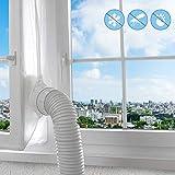 Fensterabdichtung für Mobile Klimagerät,Klimaschlauch Fensterabdichtung für Klimaanlagen Trockner Luftentfeuchter,Zubehör Klima Fensterabdichtung Dachfenster Hot Air Stop für Fenster 400 CM