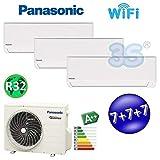 TRIO MULTI Split R32 Inverter PANASONIC Klimaanlage Klimagerät 3x 7000 btu