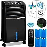 KESSER 4in1 Mobile Klimaanlage | Fernbedienung | Klimagerät | Ventilator Klimaanlage | 8 L Wasser/Eis Tank | Timer | 3 Stufen | Ionisator Luftbefeuchter | Luftkühler | Farbe: Schwarz