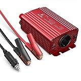 Wechselrichter 500W/BESTEK Spannungswandler DC 12V auf AC 230V/KFZ Inverter Autoladegerät Auto Adapter Netzteil mit 2 USB Anschlüsse mit Kfz Zigarettenanzünder Stecker Autobatterieclips