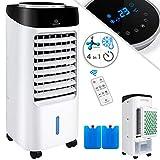 KESSER 4in1 Mobile Klimaanlage | Fernbedienung | Klimagerät | Ventilator Klimaanlage | 7 L Tank | Timer | 3 Stufen | Ionisator Luftbefeuchter | Luftkühler | Schwarz/Weiß