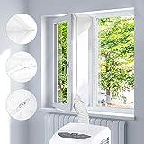 Fensterabdichtung für mobile Klimageräte und Ablufttrockner, Homegoo Airlock Für Universal Fenster mit einer Maximalen Länge von 400CM