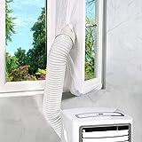 Maylove 400CM Fensterabdichtung für Mobile Klimageräte Klimaanlagen Wäschetrockner und Ablufttrockner,AirLock zum Anbringen an Fenster, Dachfenster Flügelfenster Keine Bohrlöcher erforderlich