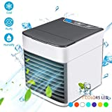 Mobile Klimageräte, Mini Klimaanlage Luftkühler Personal Air Cooler Conditioner mit Luftbefeuchter & Luftreiniger USB Tragbare Klimaanlage Verdunstungskühler (2019 Version)