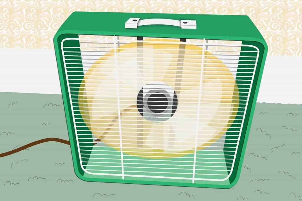 Mini Klimaanlagen haben oft eine Würfelform.